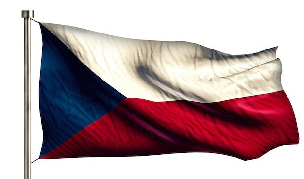 Republika czeska flaga narodowa pojedyncze 3d białe tło
