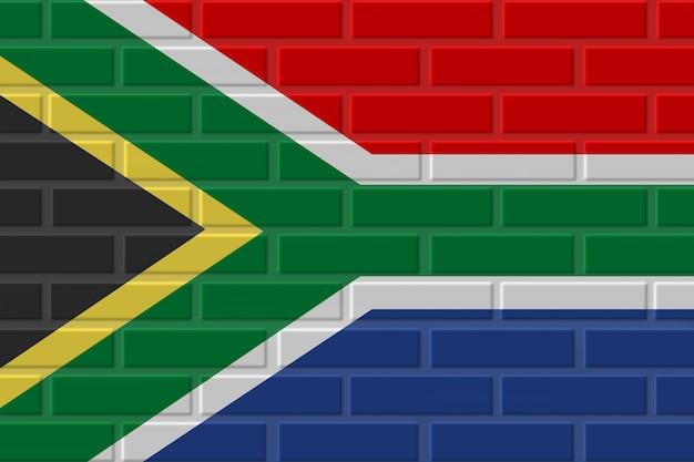 Republika południowej afryki cegła flaga ilustracja