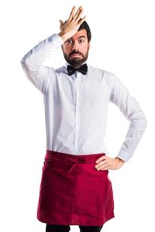 Restauracja ekspresja pracownik myśli człowiek