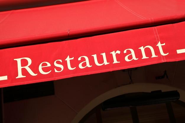 Restauracja znak