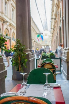 Restauracje wokół grand place w brukseli, belgia