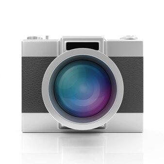 Retro aparat na białym tle