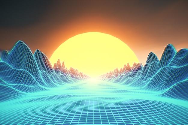Retro futurystyczne tło