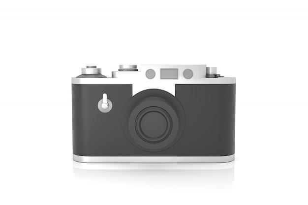 Retro kamera model odizolowywający na białym tle