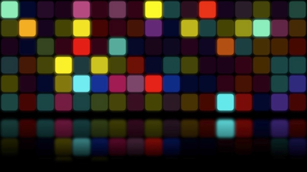 Retro kolorowe mozaiki streszczenie tło. elegancka i luksusowa dynamiczna geometryczna ilustracja 3d w stylu lat 80. i 90.