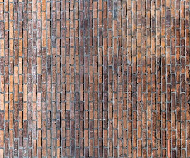Retro kopia przestrzeń ceglany mur w tle