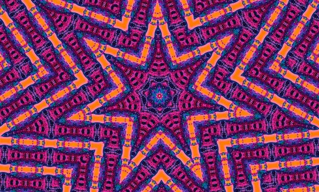 Retro różowy, niebieski i pomarańczowy, wzór geometrycznych kształtów do scrapbookingu. baner kolorowe mozaiki. geometryczne hipster retro tło z miejscem na twój tekst. retro trójkąt tło