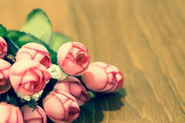 Retro valentine róży kwiatu bukieta zakończenie up