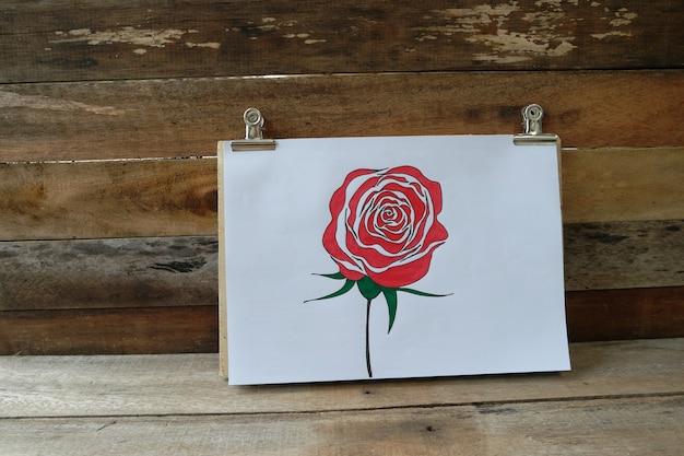 Rewolucjonistki róży bukieta kwiat koloru ołówkiem