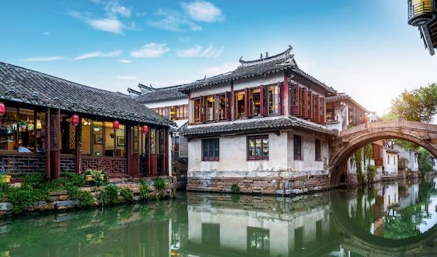Rezydencja w zhouzhuang ancient town, suzhou