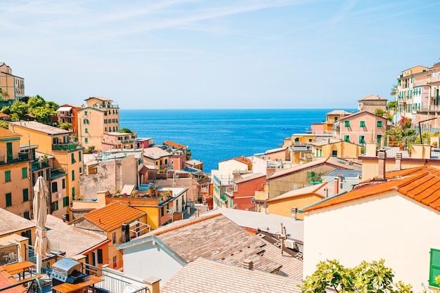 Riomaggiore w cinque terre, liguria we włoszech