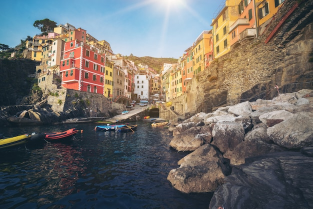 Riomaggiore w cinque terre we włoszech