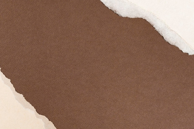 Ripped brown paper craft frame diy earth tone background