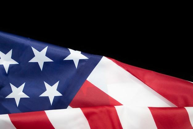 Rippled flaga usa na poczet koncepcji amerykańskiego dnia niepodległości lipca