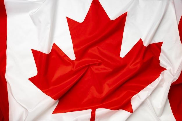 Rippled tekstylne flaga kanady z bliska zdjęcia