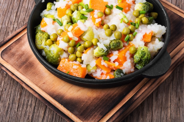 Risotto z chudego warzywa