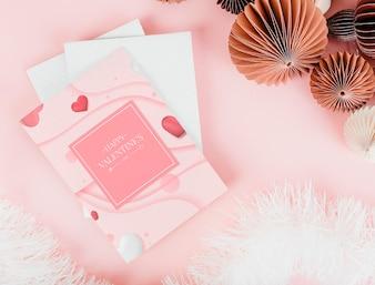 Różowe i romantyczne kartki walentynkowe