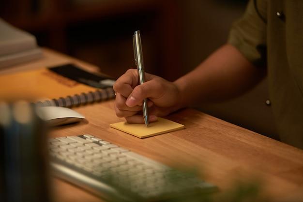 Robić notatkę
