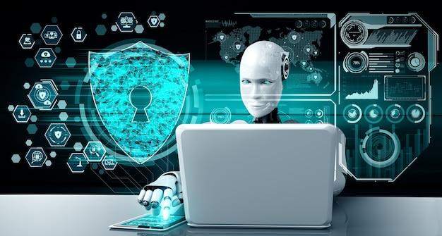 Robot ai wykorzystujący cyberbezpieczeństwo do ochrony prywatności informacji