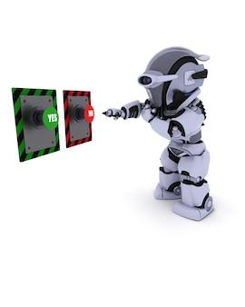 Robot decyduje, który przycisk nacisnąć