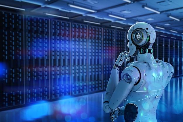 Robot do automatyzacji renderowania 3d pracujący w serwerowni