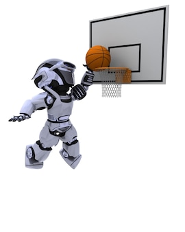 Robot gra w koszykówkę