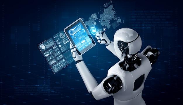 Robot humanoidalny wykorzystujący komputer typu tablet do analizy dużych zbiorów danych