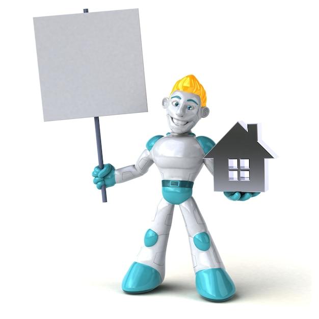 Robot - ilustracja 3d