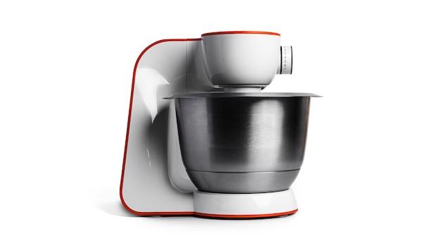 Robot kuchenny na białym tle na białej powierzchni