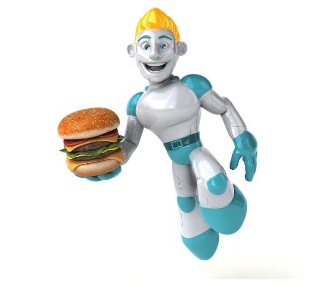 Robot - postać 3d