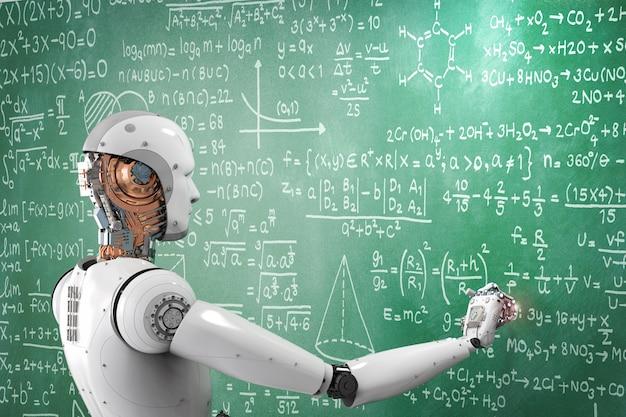 Robot renderujący 3d uczący się lub rozwiązujący problemy