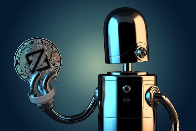 Robot trzyma zcoin