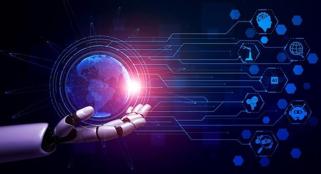 Robot wykorzystujący technologię sieciową do łączenia ludzi
