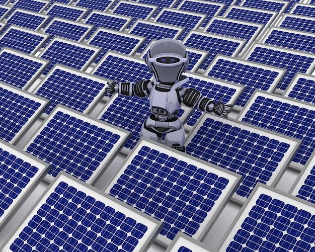 Robot z panelem słonecznym