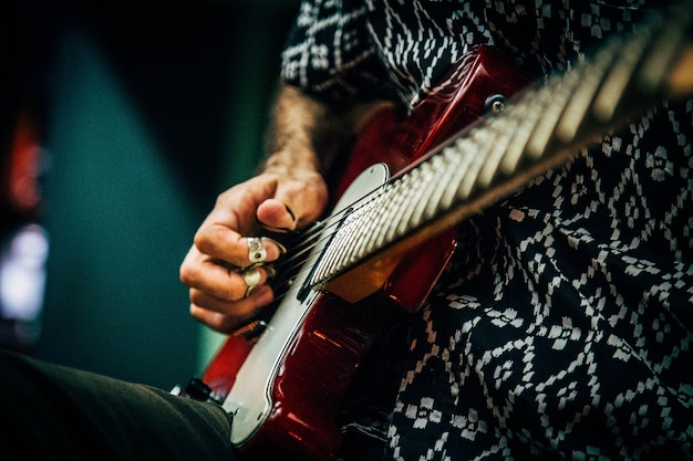 Rock guitarra player