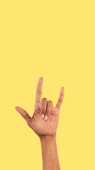 Rock n roll gest ręki