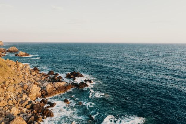 Rocky shore break