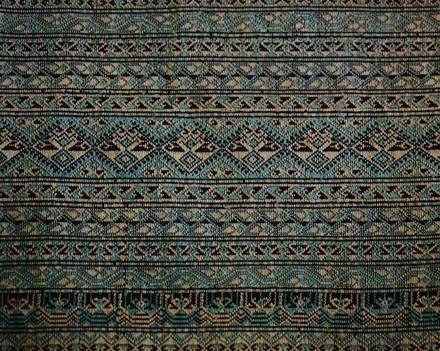 Rocznik bawełnianej tkaniny tekstury tło, tajlandzki styl