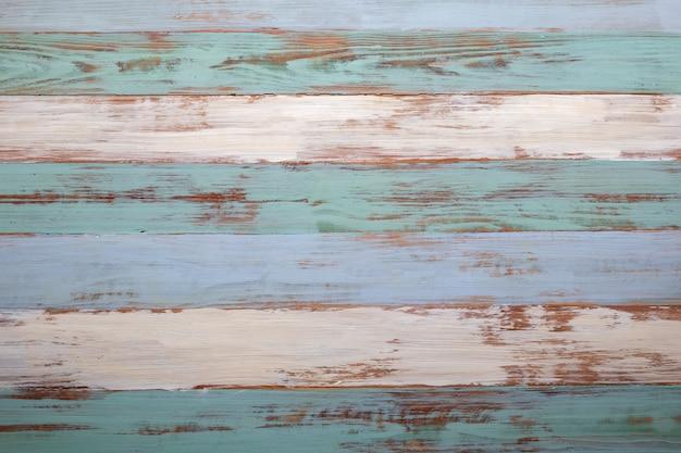 Rocznik błękitna drewniana podłoga jako tło