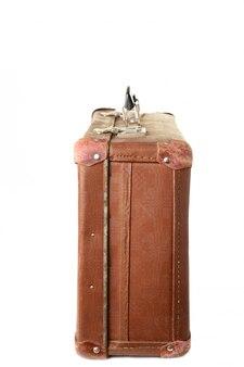 Rocznik brown walizka odizolowywająca