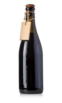 Rocznik wina butelki z pustym miejscem