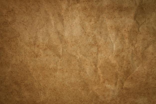 Rocznika brown papier z zmarszczeniami, abstrakcjonistyczne stare papierowe tekstury dla tła