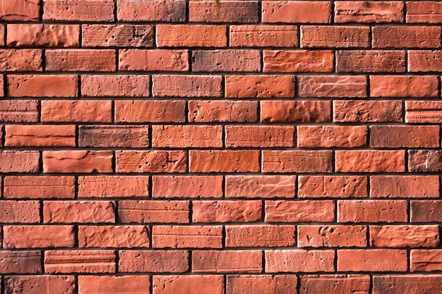Rocznika czerwonego ściana z cegieł tło