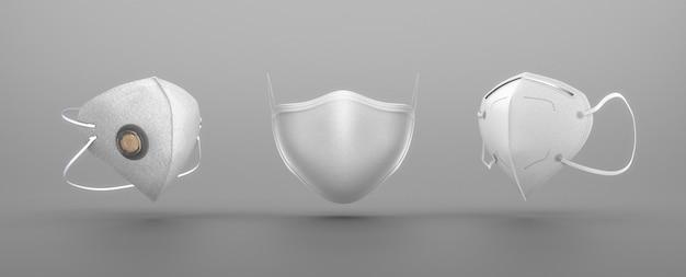 Rodzaj białych masek na twarz
