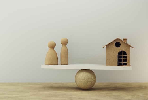 Rodzina i dom skala równowagi w równej pozycji. zarządzanie finansami rodzinnymi, zaliczki pieniężne