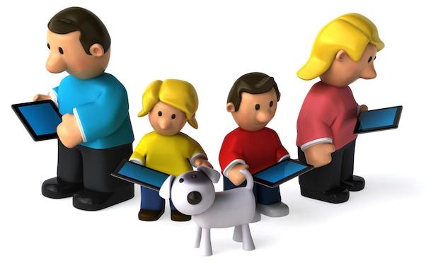 Rodzina - ilustracja 3d