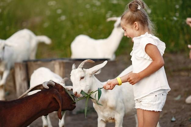 Rodzina spędza czas na wakacjach we wsi. dziecko bawiące się w przyrodzie. ludzie chodzą na świeżym powietrzu.
