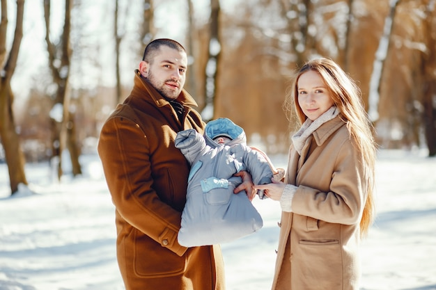 Rodzina w winter park