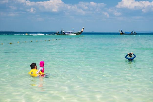 Rodzinne wakacje na plaży