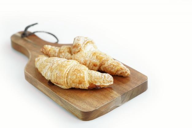Rogalik śniadanie białe